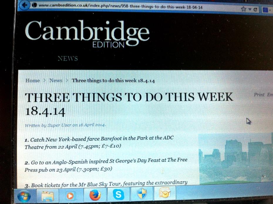 Cambridge Edition April