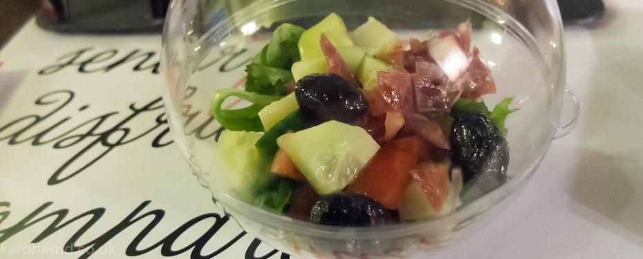 Aragonesa salad with Serrano ham from Teruel