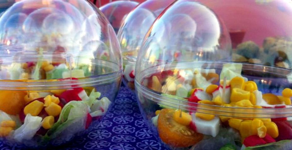 Salad spheres birthday party